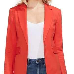 Vince Camuto Blazer Lace Up Back Red Sz 4